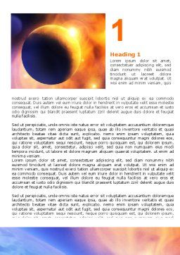 Solar Storm Word Template First Inner Page