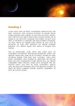 Solar Storm Word Template Second Inner Page