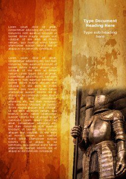 Knight Armor Word Template, Cover Page, 06060, Education & Training — PoweredTemplate.com