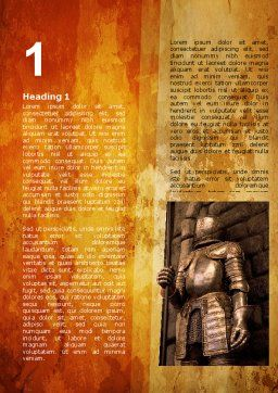 Knight Armor Word Template, First Inner Page, 06060, Education & Training — PoweredTemplate.com