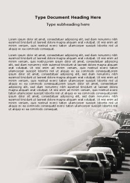 Traffic Jam Word Template Cover Page