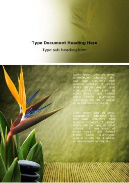 Exotic Flower Word Template Cover Page