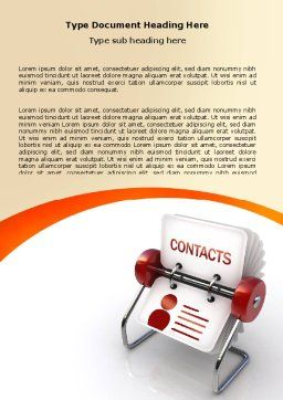 Contacts Stand Word Template, Cover Page, 06068, Consulting — PoweredTemplate.com