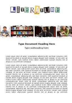 Literature Word Template, Cover Page, 06069, Education & Training — PoweredTemplate.com