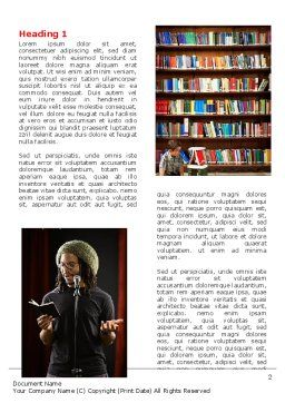 Literature Word Template First Inner Page