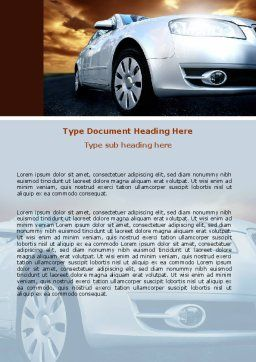 Open Road Word Template, Cover Page, 06070, Cars/Transportation — PoweredTemplate.com