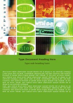 Helpdesk Word Template, Cover Page, 06072, Telecommunication — PoweredTemplate.com
