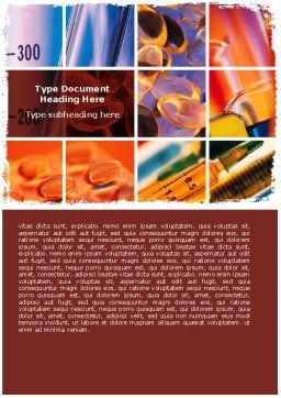 Vitamins Word Template, Cover Page, 06073, Medical — PoweredTemplate.com