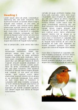 Robin Word Template First Inner Page