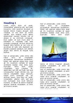 Moonlit Word Template, First Inner Page, 06075, Nature & Environment — PoweredTemplate.com