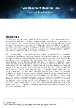 Moonlit Word Template, Second Inner Page, 06075, Nature & Environment — PoweredTemplate.com