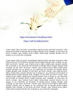 Office Routine Word Template, Cover Page, 06080, Business — PoweredTemplate.com