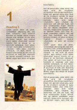 Graduator On The Roof Word Template, First Inner Page, 06082, Education & Training — PoweredTemplate.com