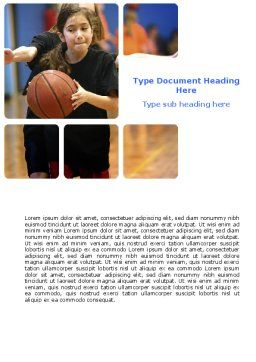 Women's Basketball in School Word Template, Cover Page, 06084, Sports — PoweredTemplate.com