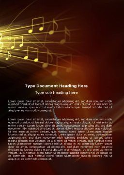 Music Stave Word Template Cover Page