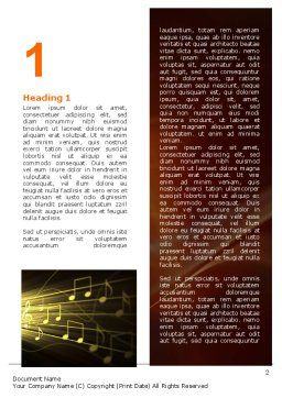 Music Stave Word Template First Inner Page