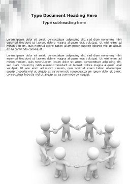 Togetherness Word Template, Cover Page, 06092, 3D — PoweredTemplate.com
