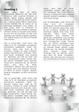 Togetherness Word Template, First Inner Page, 06092, 3D — PoweredTemplate.com