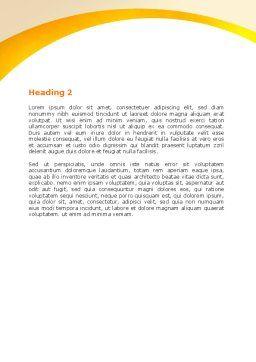 Working Relationship Word Template, Second Inner Page, 06096, Business Concepts — PoweredTemplate.com