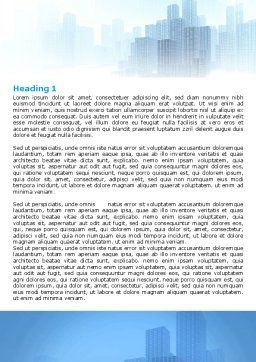 Cityscapes Word Template, First Inner Page, 06098, Construction — PoweredTemplate.com