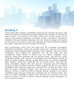 Cityscapes Word Template, Second Inner Page, 06098, Construction — PoweredTemplate.com