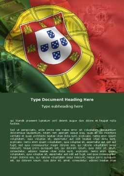Free Portugal Word Template, Cover Page, 06099, Flags/International — PoweredTemplate.com