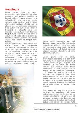 Free Portugal Word Template First Inner Page