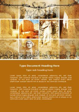 Roman Architecture Word Template, Cover Page, 06100, Education & Training — PoweredTemplate.com