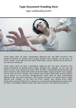 Asylum Word Template, Cover Page, 06101, Medical — PoweredTemplate.com