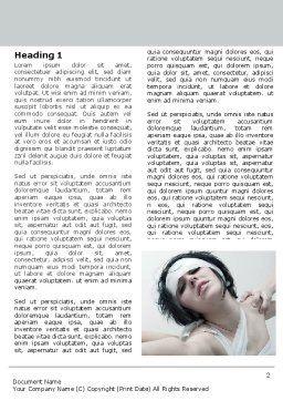Asylum Word Template, First Inner Page, 06101, Medical — PoweredTemplate.com