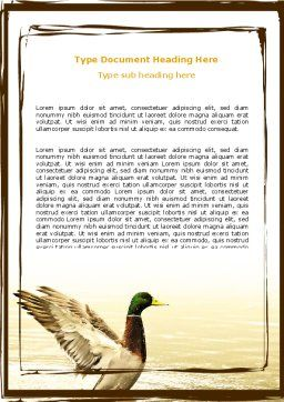 River Duck Word Template Cover Page