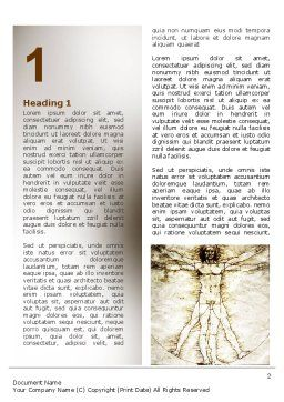 Vitruvian Man By Leonardo da Vinci Word Template, First Inner Page, 06107, Education & Training — PoweredTemplate.com