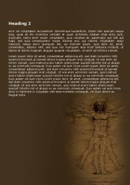 Vitruvian Man By Leonardo da Vinci Word Template, Second Inner Page, 06107, Education & Training — PoweredTemplate.com