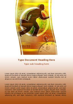 Running Out of Time Word Template, Cover Page, 06108, Business — PoweredTemplate.com