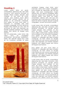 Candles and Wine Word Template, First Inner Page, 06112, Holiday/Special Occasion — PoweredTemplate.com