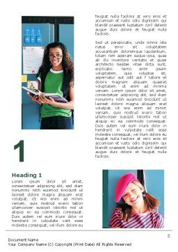 School Studying Word Template, First Inner Page, 06114, Education & Training — PoweredTemplate.com