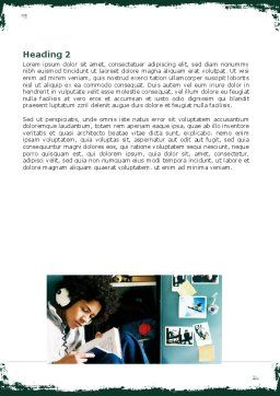 School Studying Word Template, Second Inner Page, 06114, Education & Training — PoweredTemplate.com