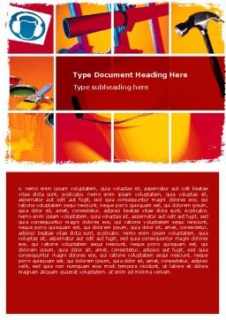 Renovation Word Template, Cover Page, 06115, Utilities/Industrial — PoweredTemplate.com