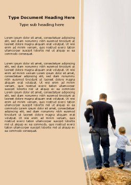 Father and Kids Word Template Cover Page
