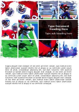 American Football Team Word Template, Cover Page, 06120, Sports — PoweredTemplate.com