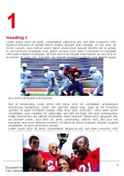 American Football Team Word Template, First Inner Page, 06120, Sports — PoweredTemplate.com