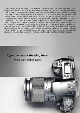 Digital Photo Camera Word Template Cover Page