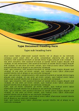 Mountain Highway Word Template, Cover Page, 06122, Construction — PoweredTemplate.com
