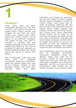 Mountain Highway Word Template, First Inner Page, 06122, Construction — PoweredTemplate.com