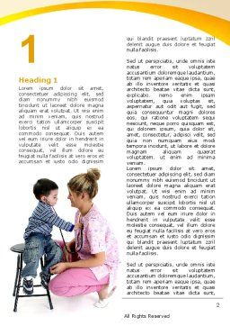 Paediatrics Word Template, First Inner Page, 06125, Medical — PoweredTemplate.com