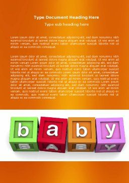 Baby Cubes Word Template Cover Page