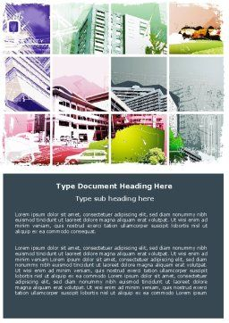 City Planning Word Template, Cover Page, 06128, Construction — PoweredTemplate.com