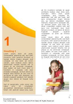 Little Reader Word Template First Inner Page