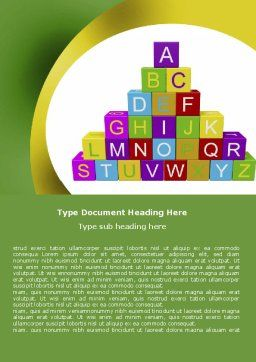 Alphabet Pyramid Word Template Cover Page