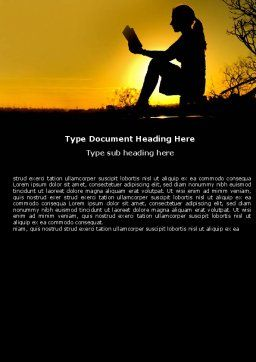 Sunset Reading Word Template Cover Page